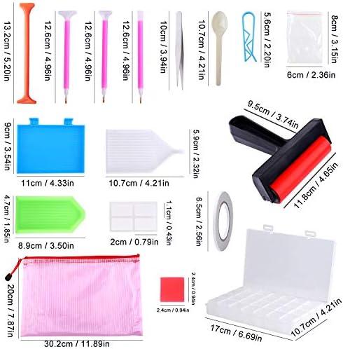 XPCARE 73 Pack Diamond Painting Necessary Accessories Diamond Box Diamond Painting Tools Set with Bag