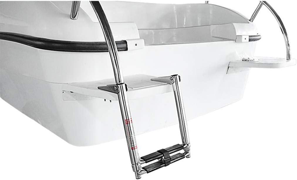 Shiwaki Escalera Plegable Marine de 2 Peldaños Escalera Telescópica de Acero inoxidable para Barco Superior Plataforma: Amazon.es: Bricolaje y herramientas