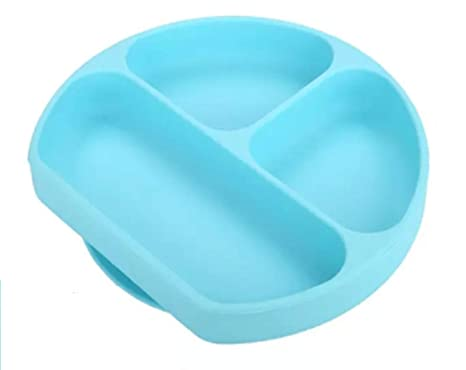 Silicone Baby Toddler Bowls Non Slip Stay Put Suction Grip Dish Premium Plates Safe and Durable Pink