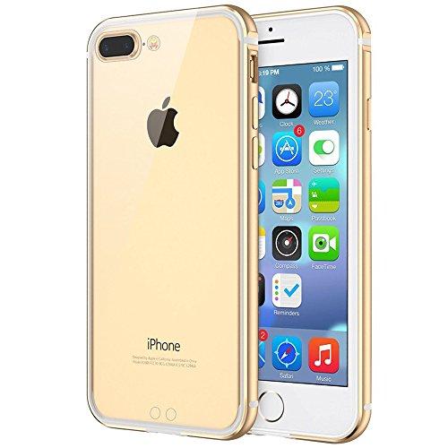 Aluminum Metal Bumper Case for Apple iPhone 7 (Gold) - 1