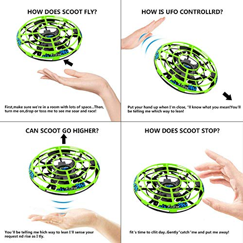Flying Ball RC Mini Drone Flying Toys Birthday Gifts for Kids Boys Girls Airplane UFO Shape Outdoor Play Toys Remote Control Interactive Infrared Induction Helicopter Flying Saucer Toys 360° Rotating by TURNMEON    (Image #2)
