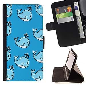 Momo Phone Case / Flip Funda de Cuero Case Cover - Enfants Dessin Bleu enfants'S - Sony Xperia M2