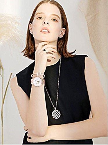Women's AK/1470 Bangle Watch and Bracelet Set (Black)