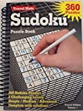 Sudoku Puzzle Book 360 Puzzles ~ Hardcover Spiral Bound ~ 3 Challenging Levels