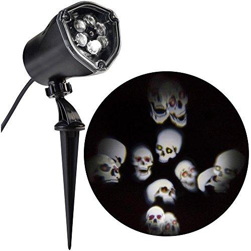 (Lightshow Strobing LED Halloween Chasing White Skulls Skull Strobe Spotlight)