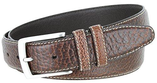 Genuine Bison Leather Dress Belt Made in USA 1-3/8