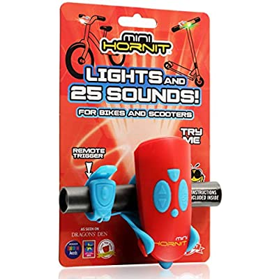 Hornit MINI HORNIT REBU Fun Horn and light gift for kids bike & scooters, Red and Blue: Toys & Games