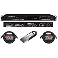 Tascam BD-01U Rackmount Blu-Ray Disc Player - Bundle 2 Pack 15 8mm XLR Microphone 3 Pin XLR Male to 3 Pin XLR Female Cable, Sandisk Ultra Flair CZ73 16GB USB 3 Flash Drive