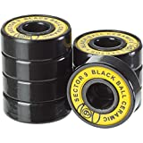 Sector 9 Black Ball Ceramics Race Bearing with Spacers (Pack of 8)