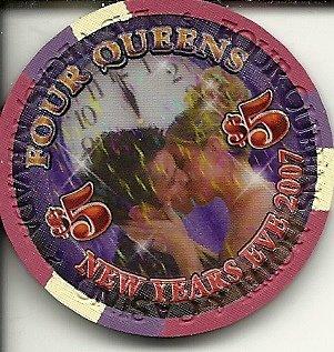 - $5 four queens vintage las vegas casino 2007 new year's eve