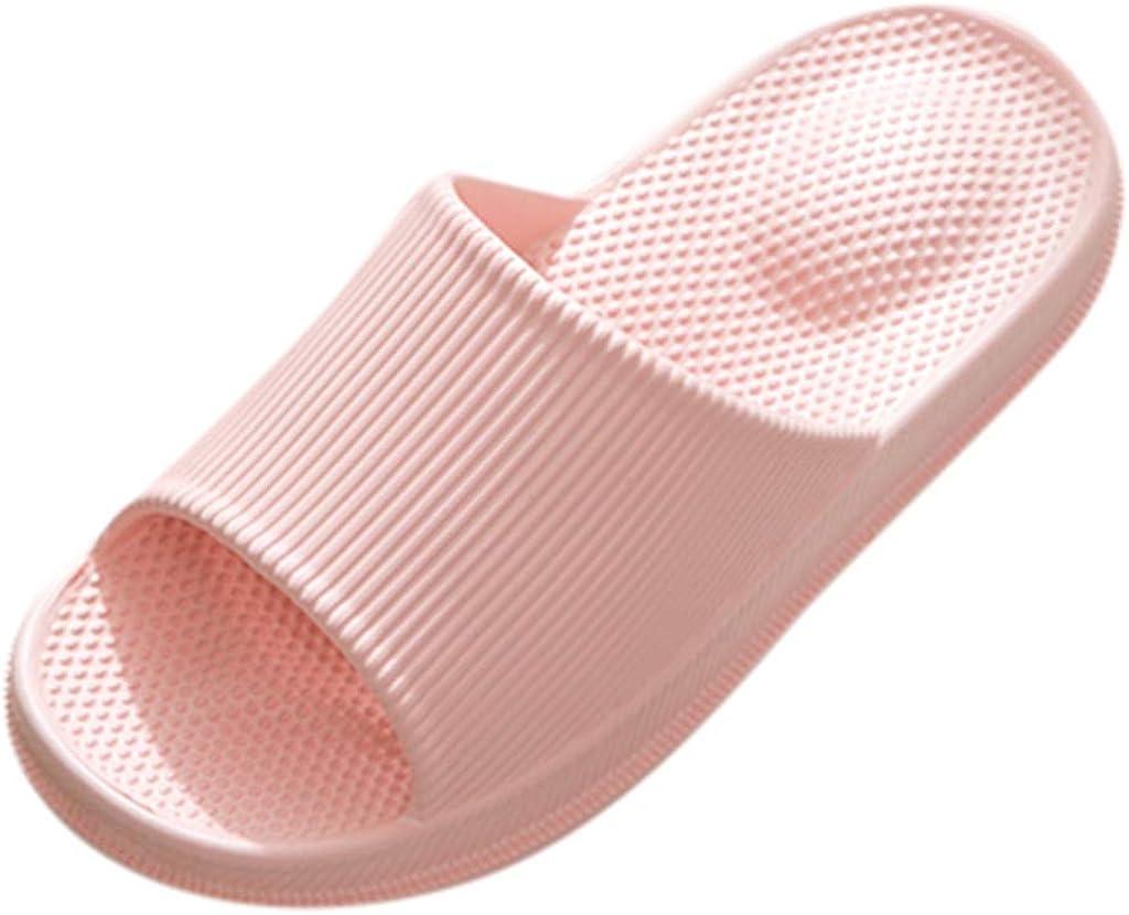 Hosamtel Slippers for Women Men Womens Non-Slip Bathroom Massage Indoor Home Slippers Summer Household Shoes