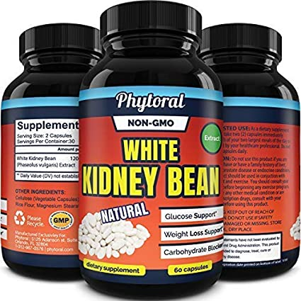 Amazon Com White Kidney Bean Supplement Pills Pure Extract Starch Carb Blocker Weight Loss Formula Lose Belly Fat Suppress Appetite Boost Metabolism Natural Weight Loss For Men And Women By Phytoral Health