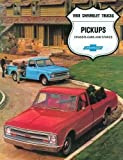 FULL COLOR 1968 CHEVY PICKUP TRUCK DEALERSHIP SALES BROCHURE - INCLUDES; Fleetside, Stepside, Chassis Cab, Stake, Custom Campers, C 10, C 20, C 30, 2WD & 4WD - ADVERTISMENT - LITERATURE - CHEVROLET 68