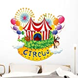 Wallmonkeys Carnival Circus Wall Decal Peel and Stick Graphic (48 in W x 47 in H) WM324517