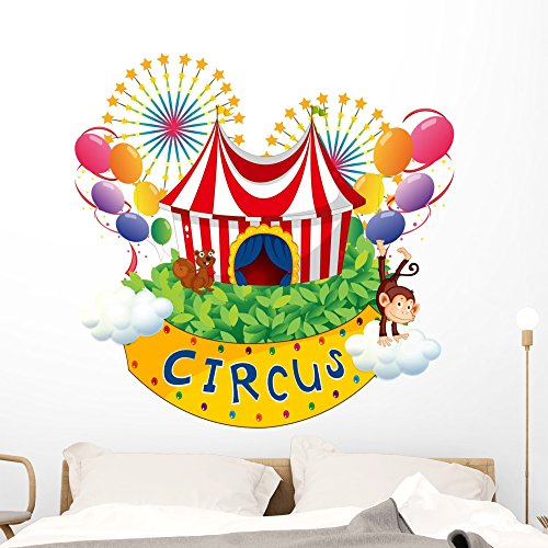 Wallmonkeys Carnival Circus Wall Decal Peel and Stick Graphic (48 in W x 47 in H) WM324517 by Wallmonkeys