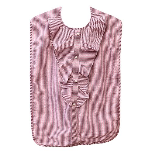 Lady's Adult Waterproof Bib, Pink Sparkle Stripe, Frenchie