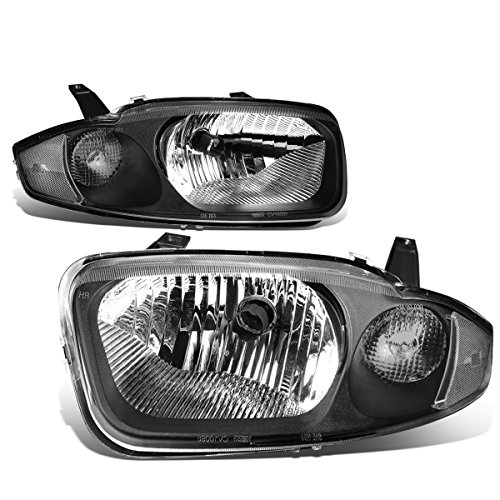 DNA Motoring HL-OH-025-BK-CL1 Pair of Headlight Assembly [03-05 Chevy Cavalier] ()