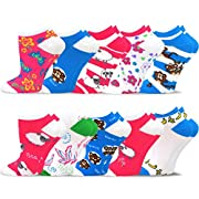 #LightningDeal TeeHee Women's Valued 9+1 Pack Fashion No Show Cotton Socks
