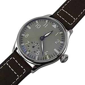 Whatswatch 44mm classic parnis luminous seagull 6498 movement hand winding mens watch PA-01190