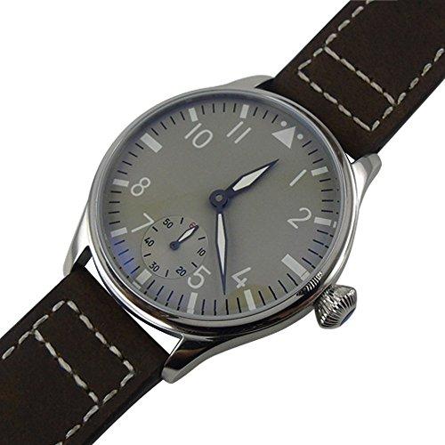 Whatswatch 44mm classic parnis luminous seagull 6498 movement hand winding mens watch PA-01190