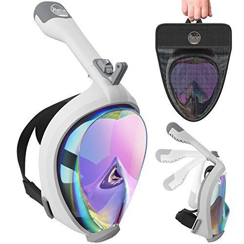 kel Mask Foldable UV Easybreath - 2.0 Panoramic 180 Seaview Snorkeling Mask with GoPro Camera Mount – Scuba Mask Anti Fog for Adults & Youth (Women & Men) ()