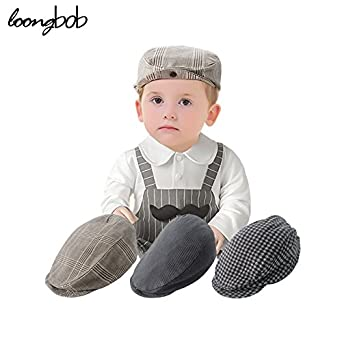 Generic White and Black Hat   Autumn Baby Boy Hats Striped Beret Newborn  Photography Props Spring 4724987ebf8f