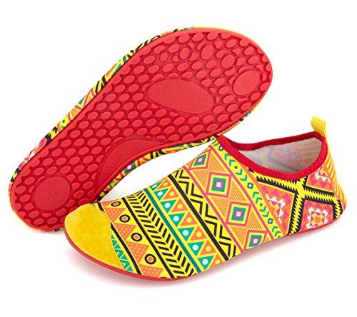 Giotto Sport Eau Chaussures Nager Yoga Plage Aqua Chaussettes Pour Femmes Hommes Treillis / Orange