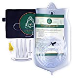 Silicone Enema Kit By D-LIFEFORCE | Includes 2qt Silicone Enema Bag & 6.2ft Silicone Tube | For Gerson Therapy