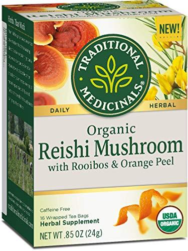 - Traditional Medicinals Organic Reishi Mushroom with Rooibos & Orange Peel Tea (Pack of 6)