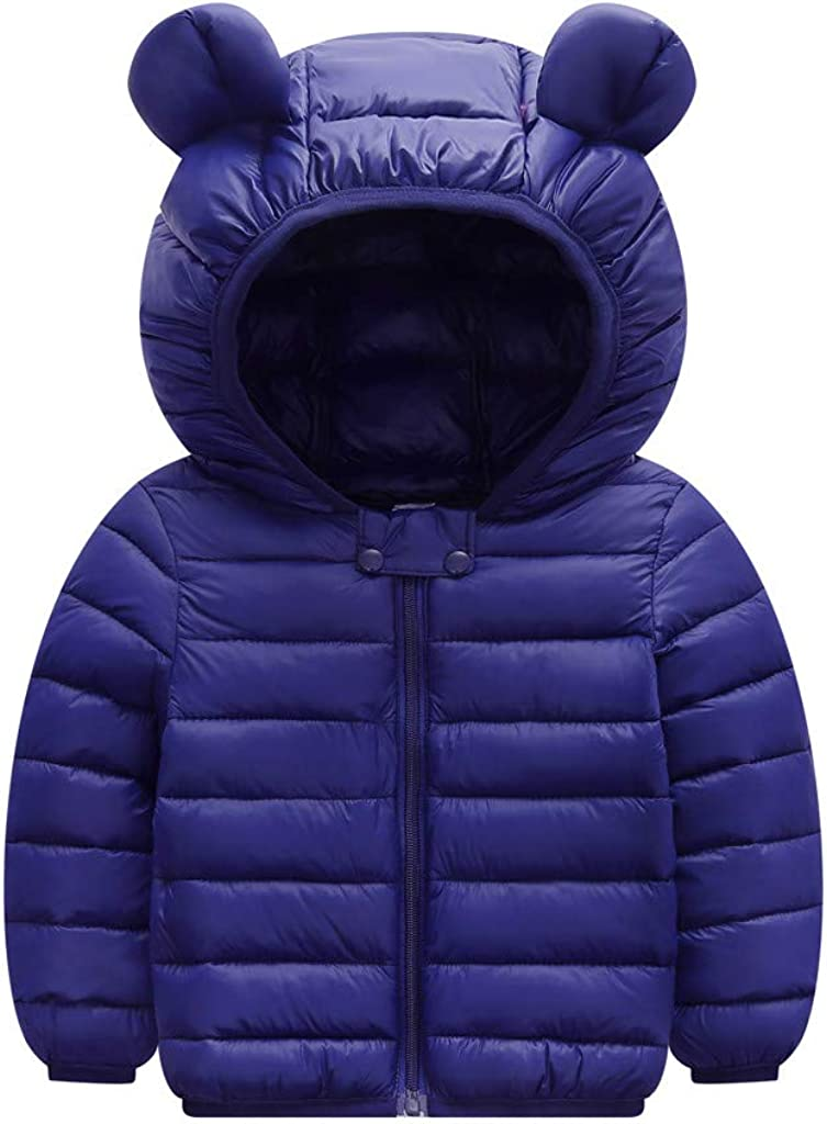 Tomppy Infant Baby Boy Girl Winter Coats Toddler Solid Zip Thick Hooded Parkas Jacket Kids Snowsuit Clothes