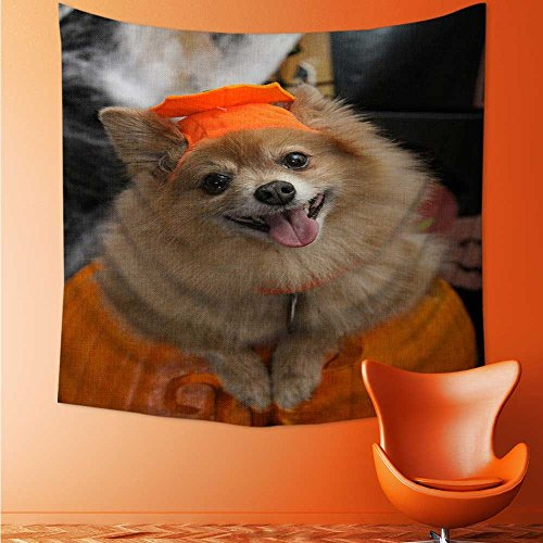 aolankaili Wall Tapestry Halloween Costume Puppy Bedroom Living Room Dorm Wall Hanging Tapestry/43.3W x 43.3L INCH ()