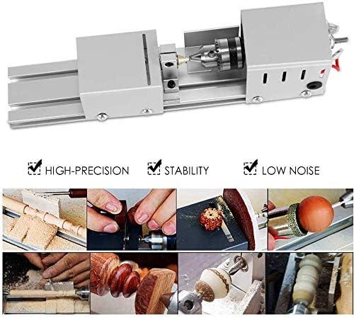 cortadora Pulido SEAAN Mini Torno de Metal Pulido mecanizado CNC para Mesa Herramienta giratoria para Manualidades de carpinter/ía de Bricolaje Multifuncional