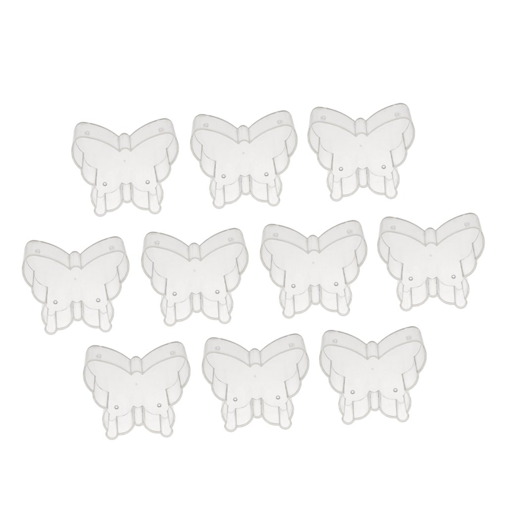 Phenovo 10x Tazze Bicchieri Di Plastica Tealight Contenitori Di Cera Candela Muffa Fabbricazione Candele - #3