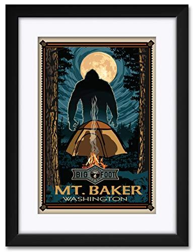Mt Baker Washington Framed & Matted Art Print by Paul A. Lanquist. Print Size: 12
