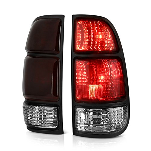 VIPMOTOZ OE-Style Smoke Red Lens LED Tail Light Housing Lamp Assembly Replacement Pair For 2000-2006 Toyota Tundra Regular & Access Cab Model, Driver & Passenger ()