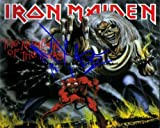 Iron Maiden Number Of The Beast Autographed Preprint Signed Photo