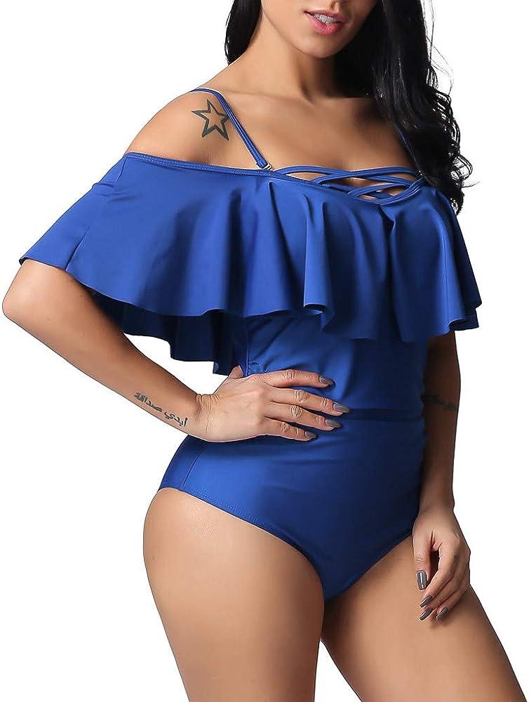 Berimaterry Bañador con Falda Trajes de Una Pieza Bikini Tallas ...