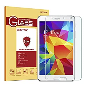 Samsung Galaxy Tab 4 7.0 Screen Protector, OMOTON Tempered Glass Screen Protector for Galaxy Tab 4 7-inch with [Anti Explosion] [9H Hardness] [High Definition] [Scratch Resist]