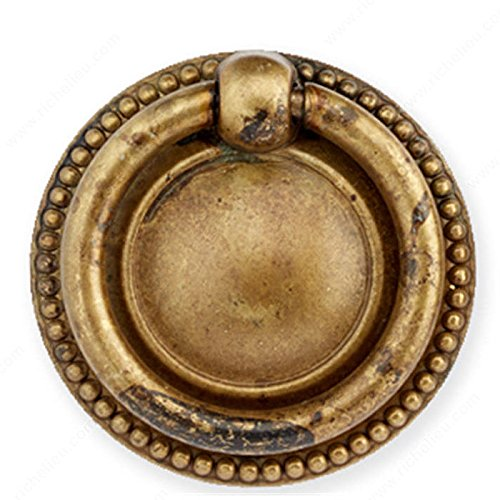 RICHELIEU HARDWARE - Traditional Brass KNOB - 12212040163 (40mm, Oxidized Brass)