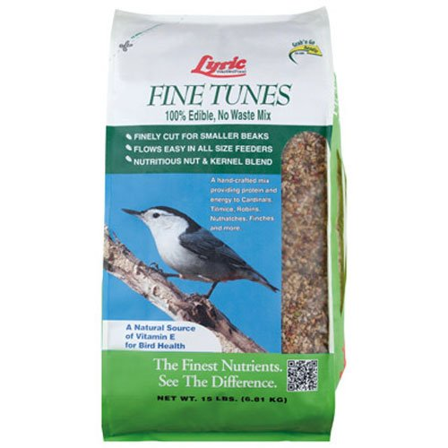 Lyric Bird Seed Fine Tunes No Waste Mix - 15 lb. ()