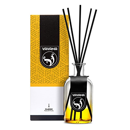Vavana Aromatherapy Diffuser Sticks | Reed Diffuser Set | Aromatic Home Fragrance Set | Essential Oil Diffuser Sticks, Made of Natural Scented Oils Blend | Perfect for Home & Office (Peels of Citrus)