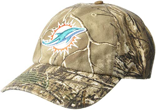 OTS NFL Adult Men's Challenger Adjustable Hat Miami Dolphins, One Size, Realtree