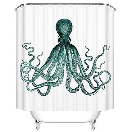 Octopus Shower Curtain By Goodbath Ocean Sea Kraken Waterproof Bath Standard Size 72