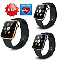 Best to Buy®Many health care funcation New Smartwatch A9 Bluetooth Smart watch for Apple iPhone & Samsung Android Phone relogio inteligente reloj smartphone watch (golden)