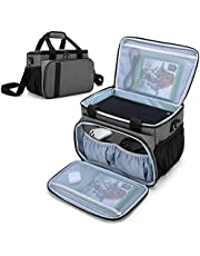 CURMIO Carrying Case Compatible with Xbox Series X Game Console and Accessories, Portable Carrying Bag with Shoulder Strap for Controllers, Cables, Headsets, Ideal for Game Player, Patented Design, Bag Only, Gray