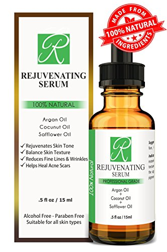 100% Natural Rejuvenating Serum. All Natural Serum For Face, Neck, Chest - Unique Gentle Care - Perfect For All Skin Types - Great Moisturizer & Anti Aging Formula.