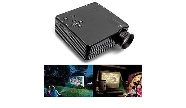 H80 Mini LED Proyector para Home TV VGA HDMI Support 1080P: Amazon ...