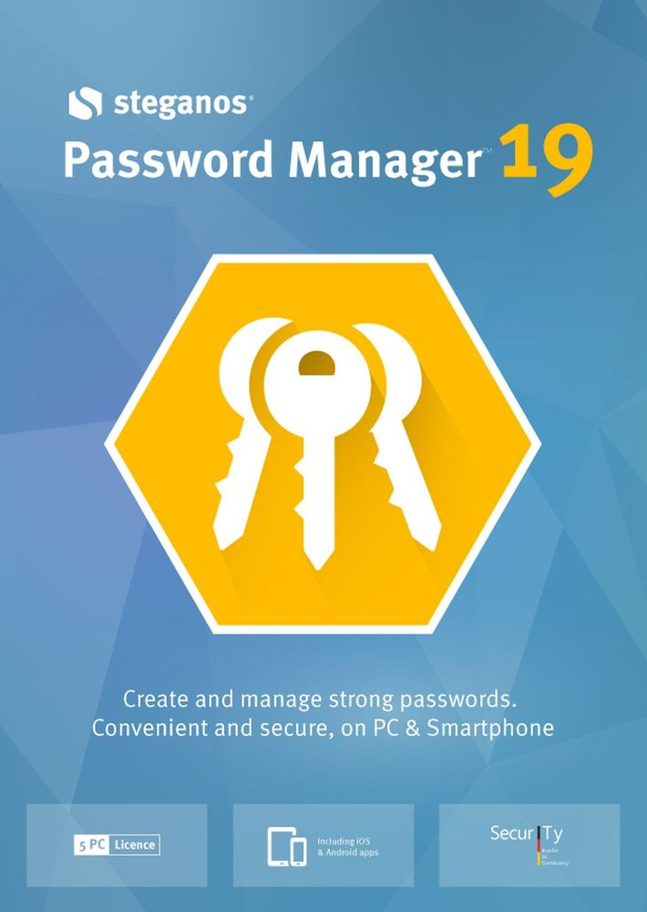 Steganos Password Manager 19 - Create and manage strong passwords! Windows 10|8|7 [Download] by Avanquest/Steganos