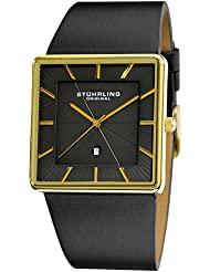 Stuhrling Original Mens 342.33351 Classic Ascot Saratoga Swiss Quartz Ultra Slim Date Gold Tone Watch