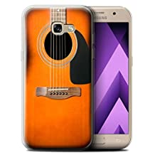 STUFF4 Gel TPU Phone Case / Cover for Samsung Galaxy A5 (2017) / Sunburst Acoustic Design / Guitar Collection